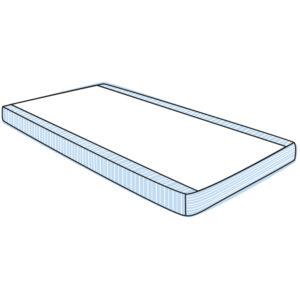 Satin Siba sheet 2 way base sheet fully fitted drawing