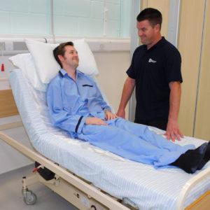 satin 2 way midi base sheet hospital 4